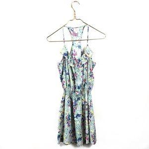 Parker • Gray 100% Silk Flora Cami Dress.